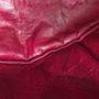 læder puf mørk rød