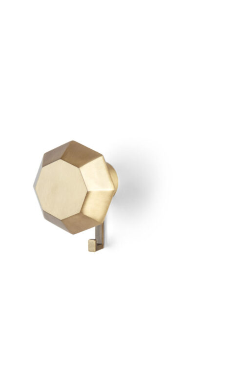 Packshot of Diamond Rack in brass