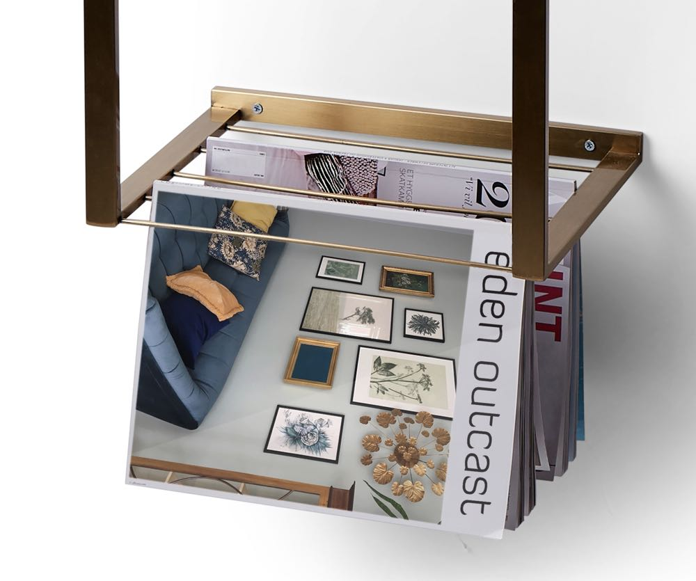 Photo of the magasin holder function of the Shelfie bedside table