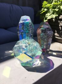 Styling photo of Devine candle holder and Crystal Rock