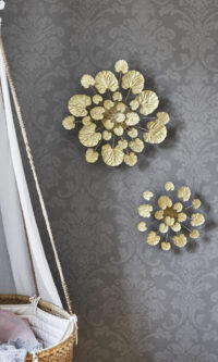 Styling photo of large and small brass Wall Flower