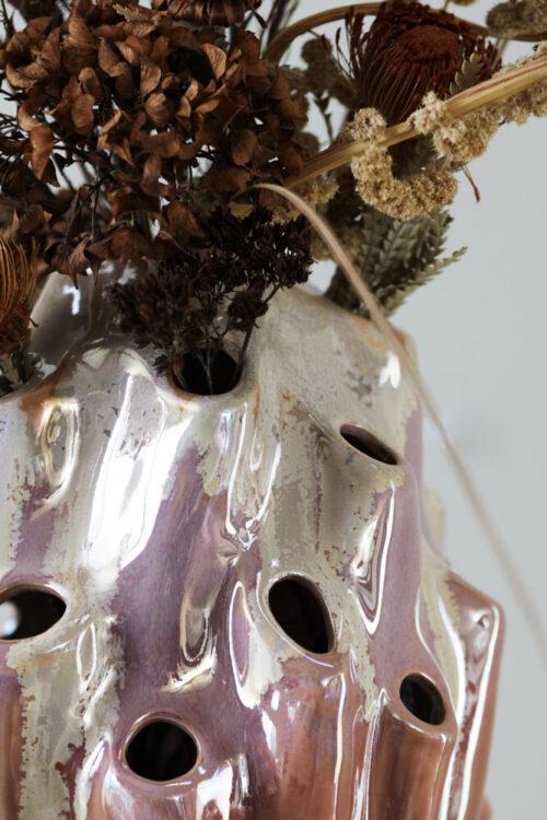 Styling nærbillede af Lava Vase i rose