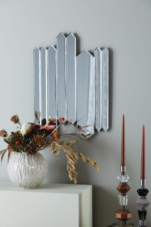 Styling photo of Repeat Mirror, Fusing Vase and Mix Candle