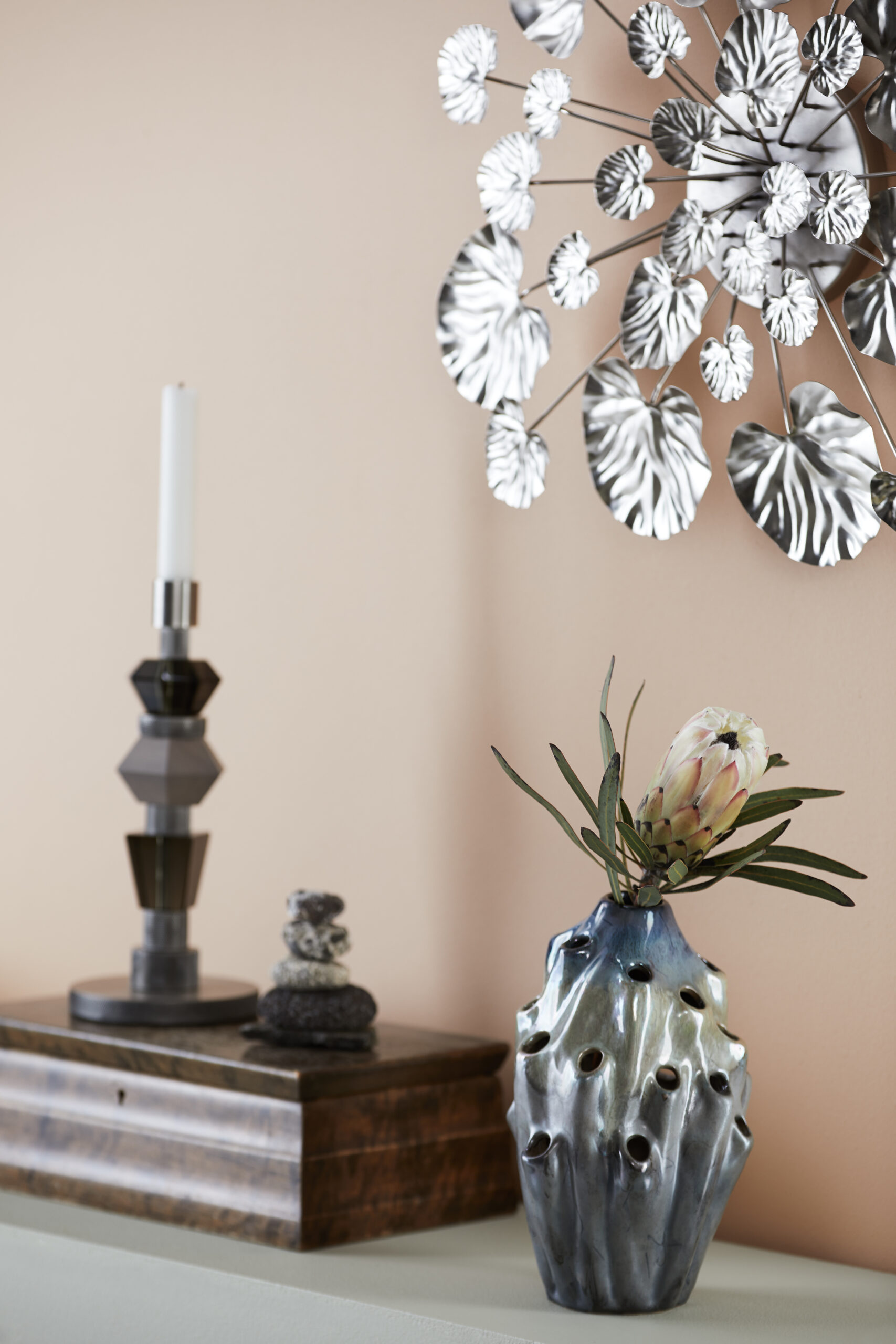 Styling photo of Lava Vase, Mix Candle and Wall Flower