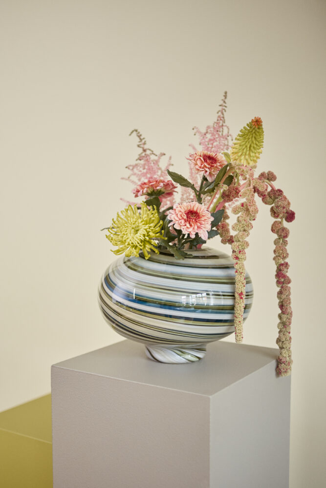 Styling photo of green Twirl Vase