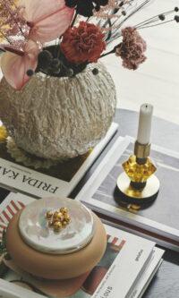 Styling billede af Fusing Vase, Candy Candle og Desert Bonbonniere