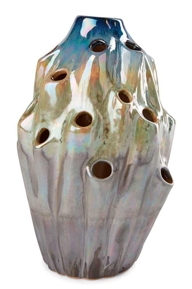 Packshot of a large Lava Vase in blue