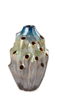 Packshot of a small Lava Vase in blue